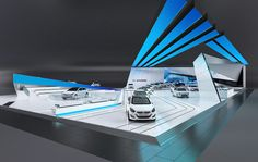 Conceptual design project for Hyundai exposition at AMI LEIPZIG