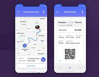 it is the simple mobile app concept for bus ticket booking. App Ui Design, Interface Design, Bus App, Simple Mobile, Bus Tickets, Mobile Ui, Behance, Concept, Ui Ux
