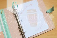 A5 planner dividers set - Set d'intercalaires organiseur A5 - Coffee - Planner…