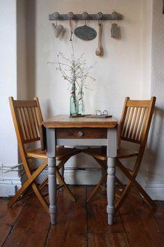 Restored Vintage Pine Drop Leaf Table with Single by ArthurandEde