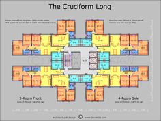 The Cruciform floor plan ~ Great pin! For Oahu architectural design visit http://ownerbuiltdesign.com