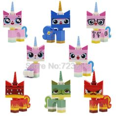 Mini Figure Cat Cutesy Unikitty Queasy Biznis Angry Kitty Compatible With Lego Educational Toys, Baby Toys, Gifts For Kids, Lego, Kitty, Cartoon, Cats, Pictures, Free