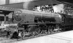 steam train City of Liverpool 46247 Photo taken at Carlisle Station