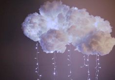 Aprende a hacer tu propia lámpara con forma de nube