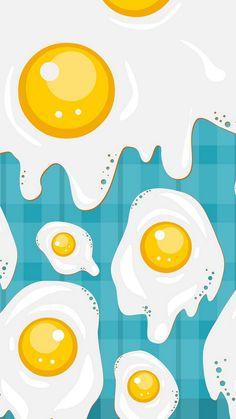 Fried Eggs Illustration iPhone 6 Wallpaper