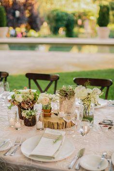 Read More: http://www.stylemepretty.com/california-weddings/2014/07/04/al-fresco-calistoga-wedding-with-layers-of-pink/