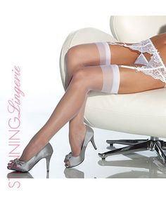 Halo Sheer Thigh High Stockings | Stunning Lingerie