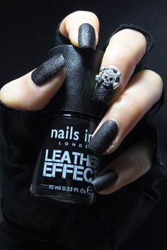 Nails Inc Bling It On Leather & Skulls - Leather Effect Polish
