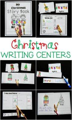 These Christmas writing centers are a hands on, engaging way to get kids reading, writing, labeling, and creating with Christmas vocabulary words. #kindergarten #iteachk #kindergartenteacher #teachersfollowteachers