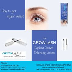 How to get longer lashes...Use GROWLASH Eyelash Growth Enhancing Serum