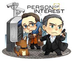 """""""Person of Interest"""" -=- Chibi Art Created by Kadeart, Awesome !! <3"""