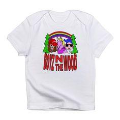 Boyz In The Wood T Shirt  #parody #spoof #fantasy #mythology #apeman #sasquatch #monkey #bigfoot #unicorn #dwarf #gnome #rainbow #cartoon #characters #funny #humor #drawing #illustration #shirts #baby #infant