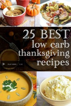 Plan ahead! From appetizers, to sides & desserts, you can have your successful Thanksgiving covered with these 25 best low carb Thanksgiving recipe ideas!