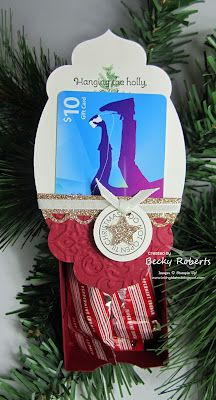 Hanging ornament with slider box and gift card holder: Inking Idaho's 4th Day of Christmas