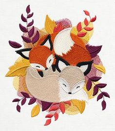 Urban Threads: Unique and Awesome Embroidery Designs Machine Embroidery Patterns, Embroidery Applique, Cross Stitch Embroidery, Cross Stitch Patterns, Fuchs Illustration, Sewing Crafts, Sewing Projects, Fox Crafts, Diy Y Manualidades