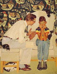 Norman Rockwell The Facts of Life (Study)