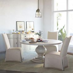 Round Dining Table Top and Pedestal Dining Table Base | Bernhardt