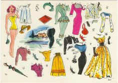 Paper Doll DANISH Artist Axe Djervad 1923-2000 by Sorensen