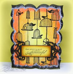 Stamps used: Coveralls Birdcages _ Designed by Rose Ann Reynolds