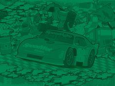 #Vector Car by Diego Crescimbeni, via Behance