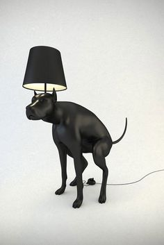 pooping dog lamp is all class... really?! And a table lamp is available.