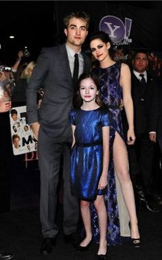 Rob, Kristen, and Mackenzie. Breaking Dawn. Premiere.