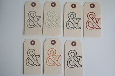 hand+stitched+ampersand+tag+choice+of+color+by+elizabethrosemond,+$2.00
