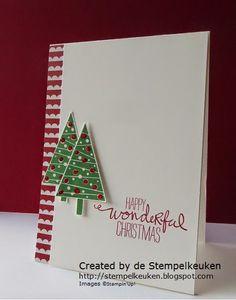 de Stempelkeuken: Merry Christmas Monday #1 CAS Christmas card with Festival of Trees