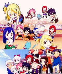 Fairy tail chibi characters