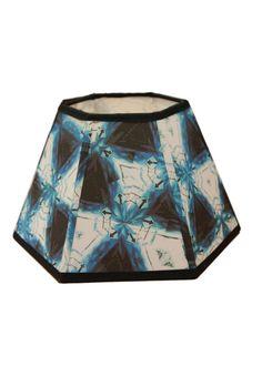 Hexagonal fabric lampshade handmade 5.25x10x7.25 by Gingerartlamps, $70.00
