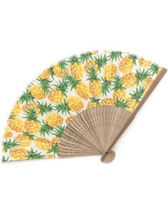 Pineapple fabric fan - cool and refreshing!