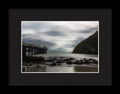 Trinidad Pier Framed Print featuring the photograph Stormy Day At The Pier by Marnie Patchett