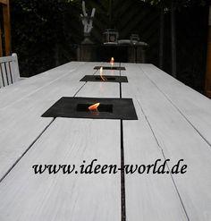 Tische mit Feuerstellen nach ihrem Wunschmaß  gefertigt