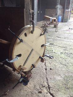 Steam bending oak.