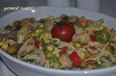 En İyi Yemek Tarifleri Sitesi-Yemek Vakti: ARPA ŞEHRİYELİ MANTAR SALATASI