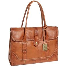 Pre-owned Frye Campus Satchel Shoulder Bag (294,230 KRW) ❤ liked on Polyvore featuring bags, handbags, saddle, leather purse, leather satchel, leather satchel handbags, satchel handbags and brown satchel purse