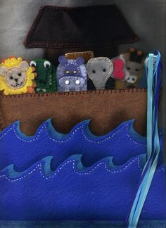 Another version of Noah's Ark- the animals are finger puppets-- IDEA ONLY