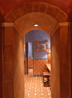 Master Bathroom En Espanol hillside hacienda, interior design, construction remodel, spanish