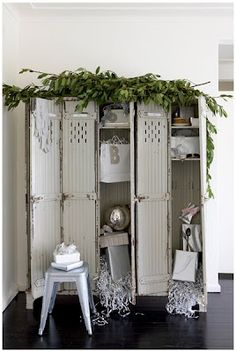 These old wood lockers would be a great addition to a bedroom to use for a wardrobe or general storage. many possibilities!