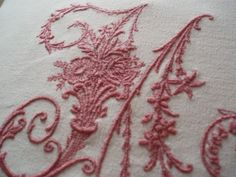 Vintage French Metis Linen Embroidered by BurgundyDelights on Etsy