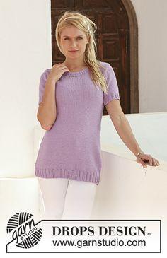 Purple Blush pattern by DROPS design Knit Cardigan Pattern, Jumper Patterns, Sweater Knitting Patterns, Knit Cowl, Free Knitting Patterns For Women, Knitting Machine Patterns, Knitting Tutorials, Drops Design, Purple Blush