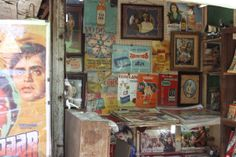 Bollywood Vintage Posters found at Chor Bazaar / Antique Market in Mumbai, India
