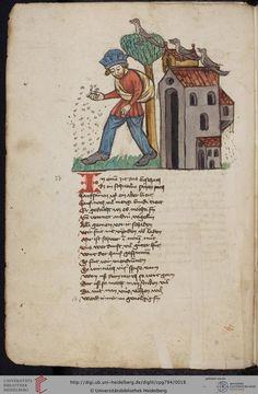 Cod. Pal. germ. 794: [Ulrich] Boner: Edelstein (Schwaben (Oberrhein? [Upper Rhine?]), um 1410/1420), Fol 7v