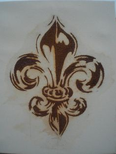 A Fleur De Lis Tattoo Sketch