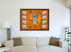 Traditional wall pichwai of shrinath ji , Indian religious art. Amazing Paintings, Indian Paintings, Acrylic Colors, Religious Art, Something To Do, Lord Krishna, Traditional, Fabric Painting, Indian Art
