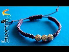 Come fare un braccialetto con nodo macramé - YouTube