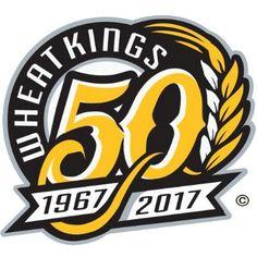Brandon Wheat Kings Anniversary Logo on Chris Creamer's Sports Logos Page - SportsLogos. A virtual museum of sports logos, uniforms and historical items. Creative Poster Design, Creative Posters, Graphic Design Posters, 7 Logo, Typography Logo, 100 Years Celebration, Birthday Logo, Banks Logo, Hockey Logos