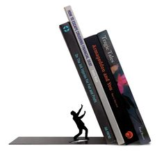 Add dramatic structure to your personal library with the Fred and Friends THE END Bookend. This bookend comes one to a package. The bookend is crafted from
