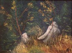 Plants, Animals, Art, Tree Stump, Oil, Art Background, Animales, Animaux, Kunst