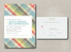 a bit preppy printable plaid wedding by antlerschandeliers @Etsy